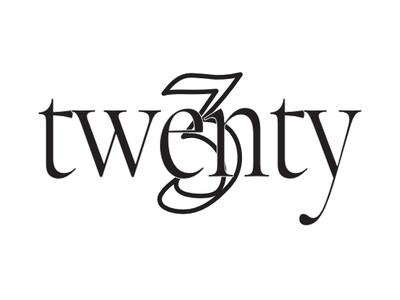 Twenty3 Logo los angeles model fashion design branding logo typogaphy vector