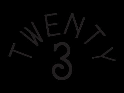 Twenty3 Alternate Logo 1 model fashion los angeles typogaphy logo design branding vector