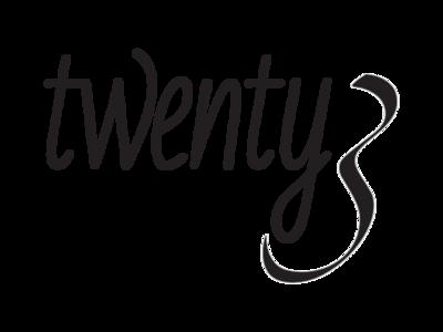 Twenty3 Alternate Logo 2 logo model fashion los angeles typogaphy design branding vector