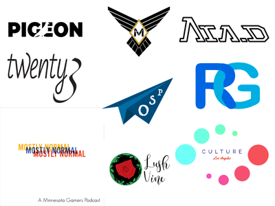 Collection of Recent Design Projects advertisement design logo design social media