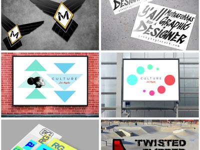 Reworked Website mock-ups portfolio branding