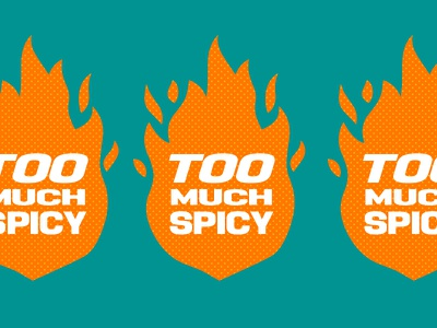 Too Much Spicy - Indian Street Food indian drink food restaurant small business start up turtle and hare logo design street food independent visual identity branding