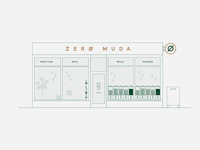Zero Muda - Refill store sustainable drink food restaurant small business start up turtle and hare logo design street food independent visual identity branding
