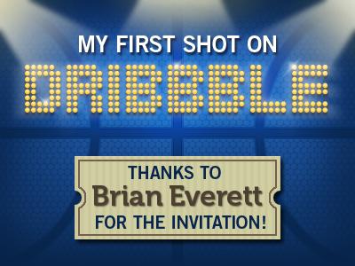 First Shot first shot dribbble evrt invitation texture