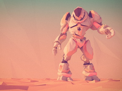 low poly funky mech low poly mech robot 3d character design zbrush