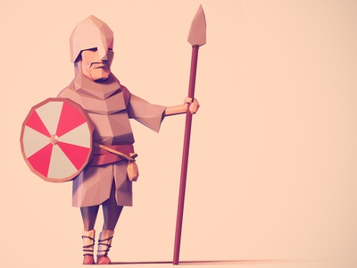 Low Poly Saxon low poly saxon viking soldier britain blender character character design zbrush