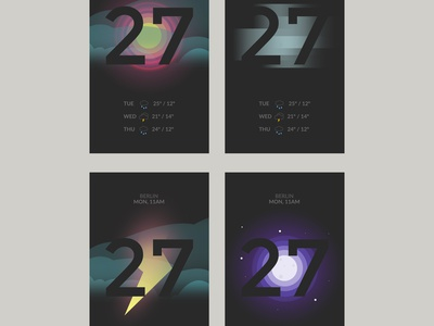 Weather App ux design app weather illustration ui after effects sun animation interface ux