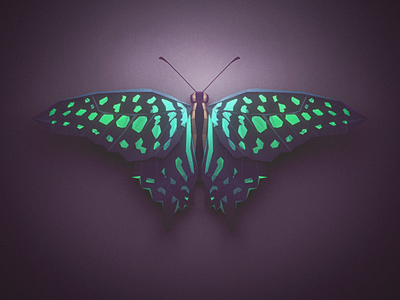 Low Poly Butterfly nature animal blender 3d butterfly lowpoly low poly