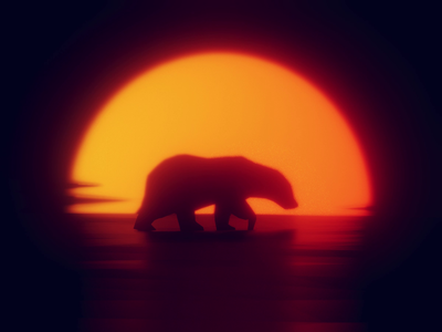Out for a stroll mood walk polar sunset walkcycle bear