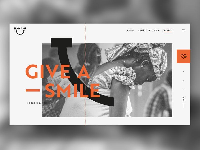 Hamami Webdesign design advanced landingpage identity webdesign cameroon africa charity smile smiley hamami