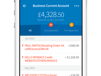 Business Current Account iphone ios accounting ui money banking mobile freeagent