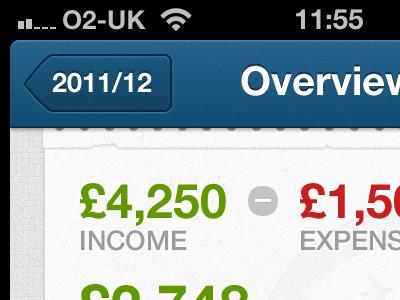 2011/12 ui ios iphone retina money accounting