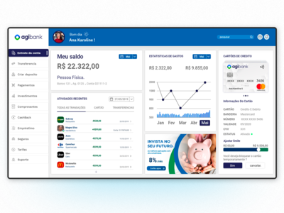 Agibank Dashboard redesign