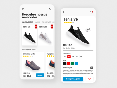 app design ecommerce shoes