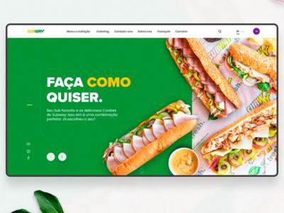 Subway website concept