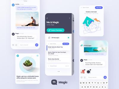 Get Magic - Virtual Assistant - Minimalist App Design ux ui minimalist app design product design branding design figma