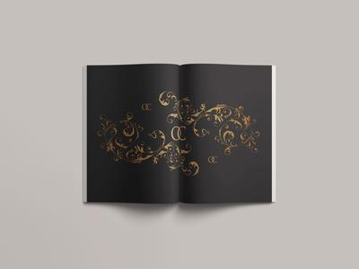 Luxury Black & Gold Filigree