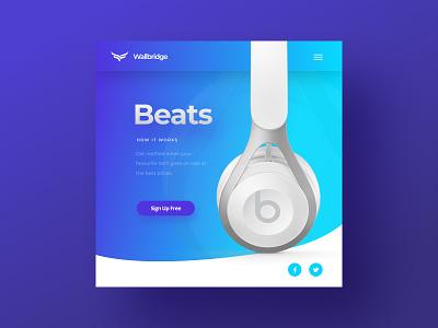Minimalist tech shop WordPress website concept uxui figma wordpress blue tech minimalist