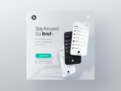 Brief App - WordPress Website & Mobile UX UI