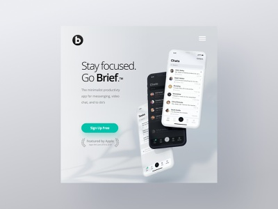 Brief App - WordPress Website & Mobile UX UI wordpress design elementor figma seo brand identity wordpress ux  ui