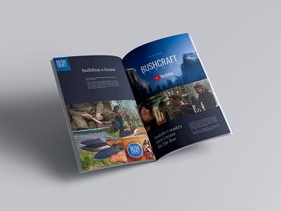 Bushcraft Heroes Magazine Spread photoshop figma branding and identity magazine design