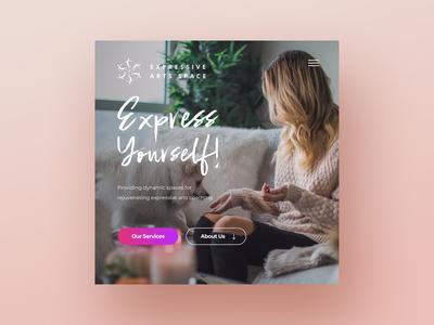 Expressive Arts Wordpress Design