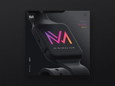 Minimalist Logo & Black WordPress Concept uxui photoshop figma black logo wordpress design minimalist