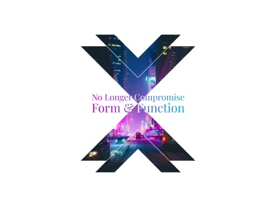No Longer Compromise Form And Function figma design neon lights branding design wordpress design