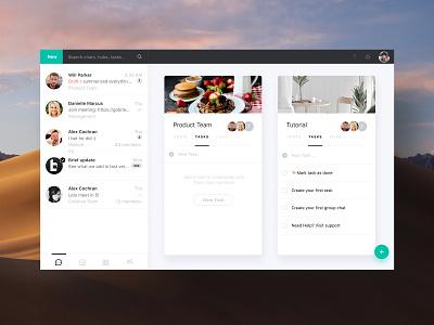 Brief App Desktop - Chats Tasks Hubs UI minimalist ui uxui brief figma