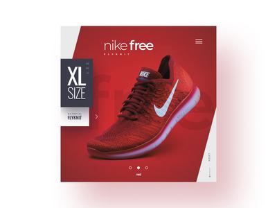 Shoe Product Design WordPress Mobile Concept