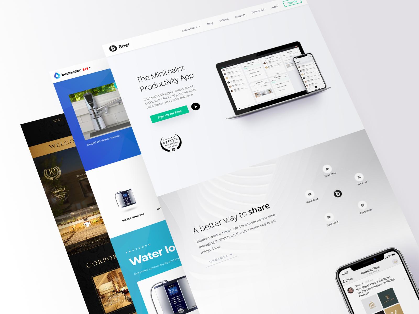 3 website stack elite web design