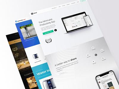 3 Websites Stack uxui minimalist wordpress design branding design figma