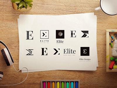 Elite & E Logo Concepts logo designs logo minimalist figma