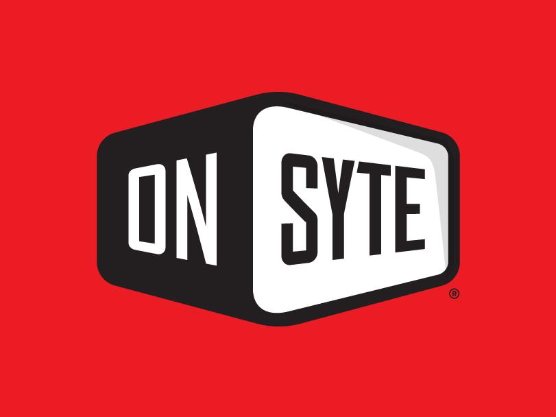 Onsyte Logo branding construction logo logo designer illustration illustrator condensed font badge badge logo logo design logo typogaphy custom type custom font