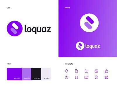 Loquaz — Logo design minimal illustrator illustration branding typography logo icon