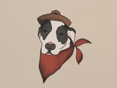 Cowpup illustration dog western cowboy