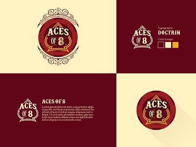 Aces of 8: Brand Elements ui illustration design packaging oklahoma city thunder oklahoma city oklahoma logodesign cannabis logo cannabis graphic design branding logo
