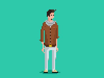 Hero pixel art illustration video game character design