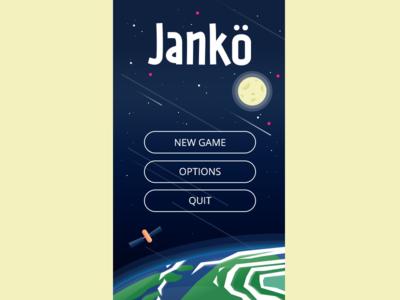 Game menu buttons user interface ui font handwritten typography type moon earth space menu game