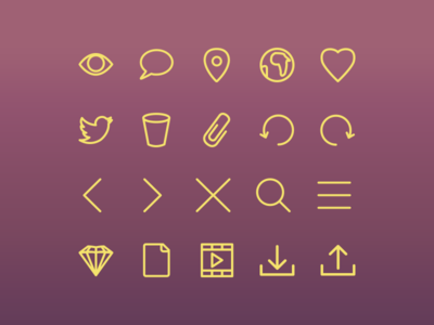 Icon Font ui clean flat vector font icons font icon