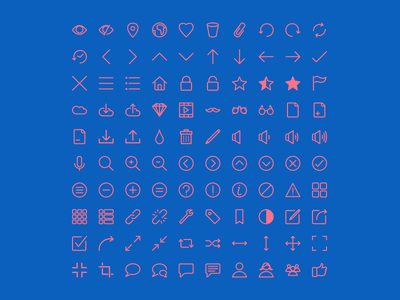 Rivolicons Free v1.0 line icon font icon icon set clean flat vector font icon