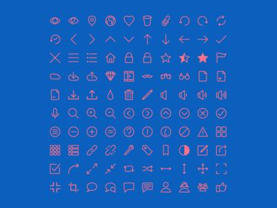 Rivolicons Free v1.0 line icon font icon icon set clean flat vector font icon
