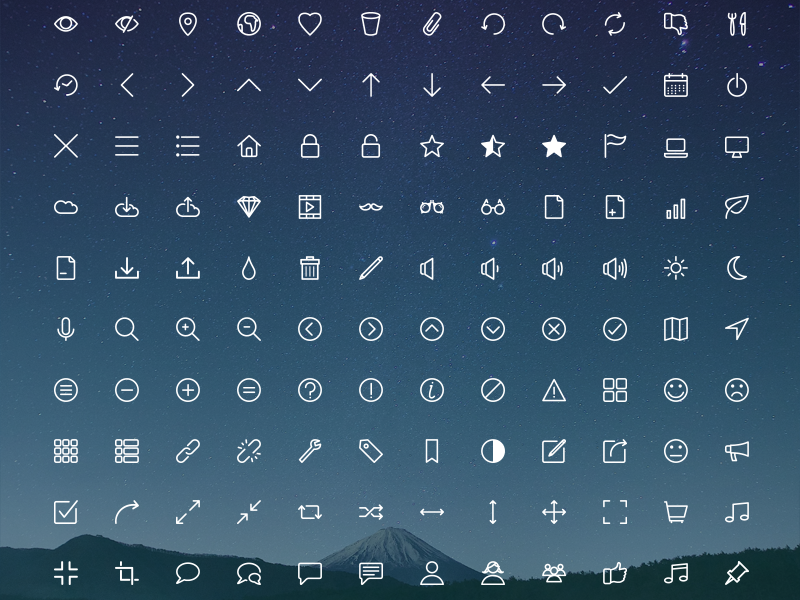 Download Rivolicons Free v.1.0 by Hadrien Boyer | Dribbble | Dribbble