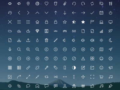 Rivolicons Free v.1.0 svg icon font free line icon icon font font icon vector flat clean icon set
