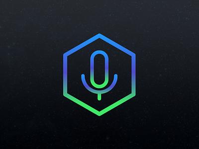 Audio Logo gradient mic audio illustration illustrator vector logo
