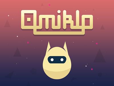Omiklo Logo typo typography game illustration illustrator vector logo