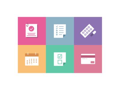 Health icons icon design vector pictogram icons health