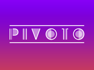 PIVOTO Logo vector illustrator logo design logo ios game