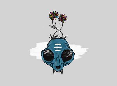 Cat Skull Music Graphic