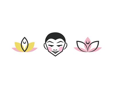 Yoga Studio Logo Ideas logomark identity branding logo graphic design lotus illustration design illustration yoga